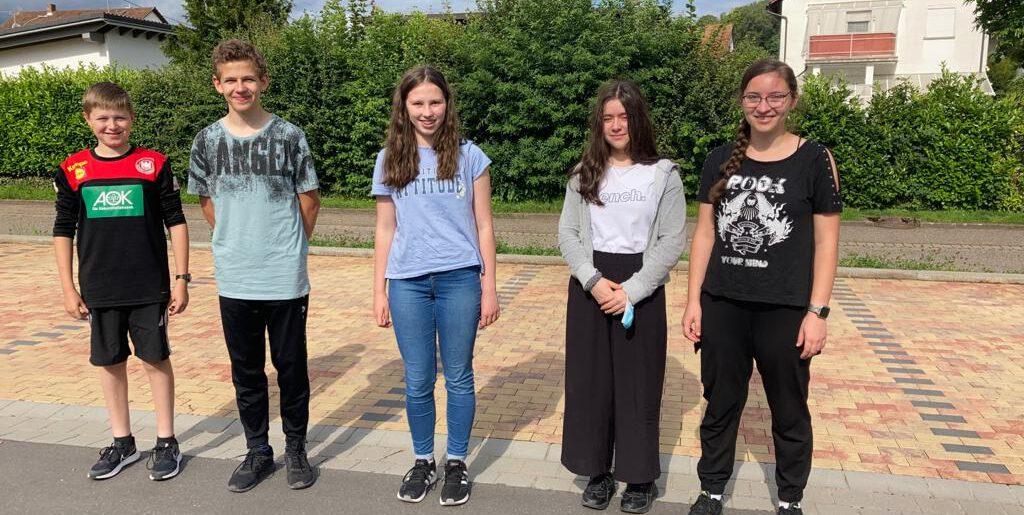 5 Jugendliche beim D-Lehrgang